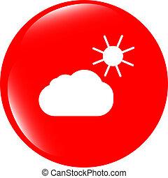 háló, app, elszigetelt, időjárás, háttér, fehér, ikon