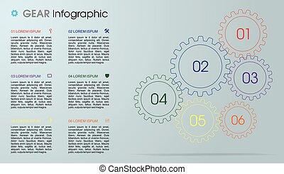 háló, használt, bekapcsol, színes, lenni, modern, szürke, workflow, layout., háttér., vektor, brosúra, sablon, infographics, bemutatások, opciók, tervezés, konzerv