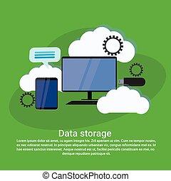 háló, hely, adatok, kiszámít, tárolás, sablon, szolgáltatás, másol, transzparens, felhő
