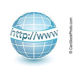háló, http, www, földgolyó, internet