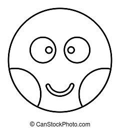 háló, mód, áttekintés, ábra, arc, feszélyezett, vektor, tervezés, ikon