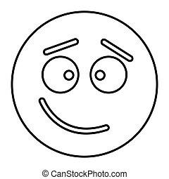 háló, mód, áttekintés, tanácstalan, ábra, arc, vektor, tervezés, ikon