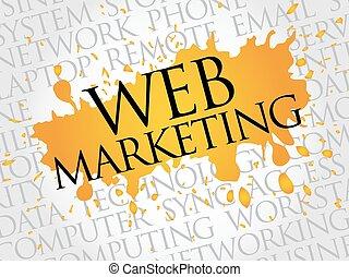 háló, szó, felhő, marketing