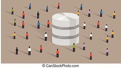 háló, tolong, emberek, nagy, adatbázis, hosting, együtt, ministráns, részesedés, adatok