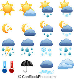 háló, vektor, ikonok, házhely., ellenség, időjárás, friss