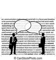 hálózat, ügy emberek, rész, társadalmi, panama, beszél