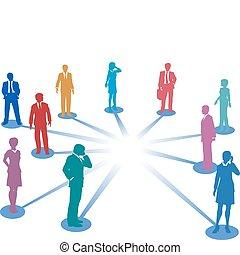 hálózat, ügy, hely, emberek, összeköttetés, összekapcsol, másol