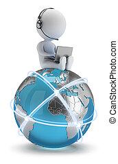 hálózat, emberek, globális, -, kicsi, 3