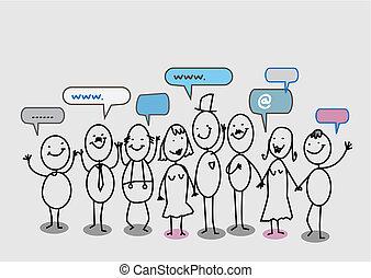 hálózat, emberek, társadalmi