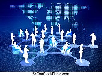 hálózat, közösség