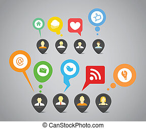 hálózat, média, elvont, beszéd, társadalmi, panama
