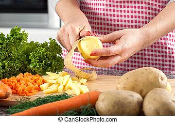 hámlás, krumpli