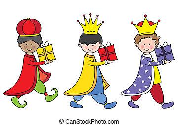 három, király