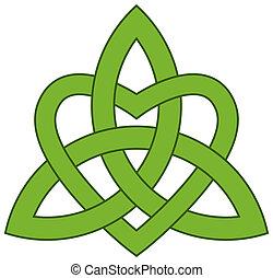 háromság, (triquetra), kelta, csomó
