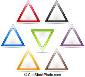 háromszög, cégtábla