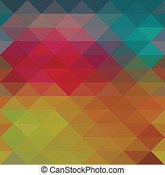 háromszög, neon, seamless, háttér