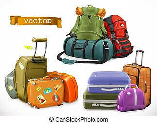 hátizsák, travel., táska, bőrönd