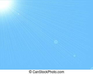 háttér, &, ég, nap