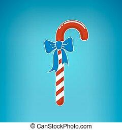 háttér, íj, karácsony, kék, cukorka