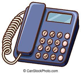 háttér, öreg telefon, mód, fehér