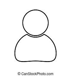 háttér, ügy, egyszerű, elszigetelt, tervezés, emberi, fehér, ikon