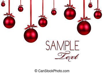 háttér, ünnep, karácsony, piros, díszítés
