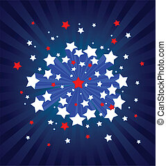 háttér, amerikai, starburst