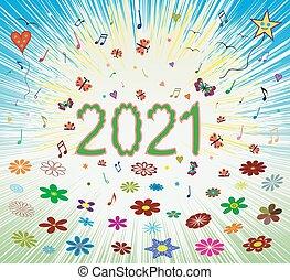 háttér, boldog, 2021, optimista, nyár, napkelte, eredet