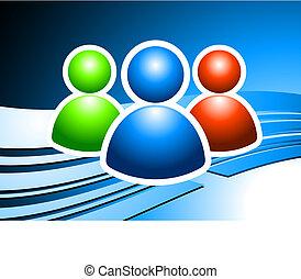 háttér, csoport, globális, felhasználó, internet
