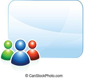 háttér, csoport, keret, üres, felhasználó