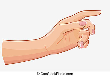 háttér, elszigetelt, kéz, megható, női, fehér
