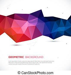 háttér., elvont, geometriai, színes, 3