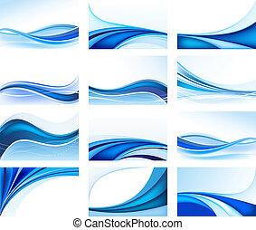háttér, elvont, kék, állhatatos, vektor