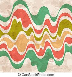 háttér., elvont, színes, waves.
