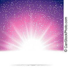 háttér, elvont, varázslatos, fény