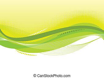 háttér, elvont, zöld