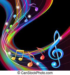 háttér., elvont, zene híres, színes