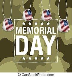 háttér, emlékmű, medals, zászlók, nap, usa, álcáz, ünneplés