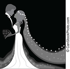 háttér, esküvő