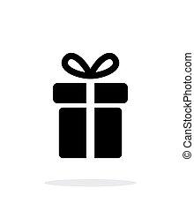 háttér., fehér, ajándék, ikon