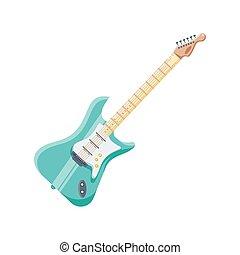 háttér, fehér, elektromos gitár