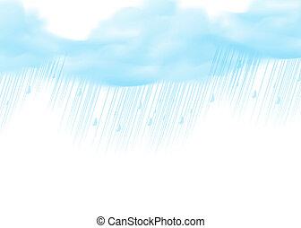 háttér, fehér, kék, esik eső, motívum, eső, természet, víz, elvont, esőcseppek, struktúra, savanyúcukorka, felhő, -