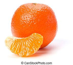 háttér, fehér, kínai mandarin, elszigetelt