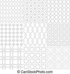 háttér, fehér, seamless, geometriai