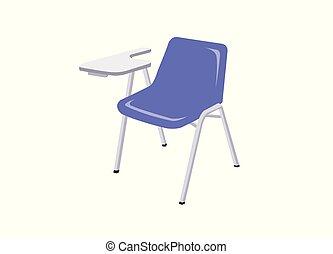 háttér., fehér, szék, elszigetelt, előadás