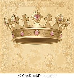 háttér, fejtető, királyi