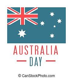 háttér, felett, nap, lobogó, embléma, nemzeti, fehér, ausztrália