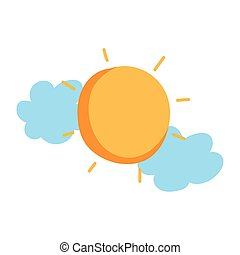 háttér, időjárás, fehér, elszigetelt, ikon, nap, elhomályosul