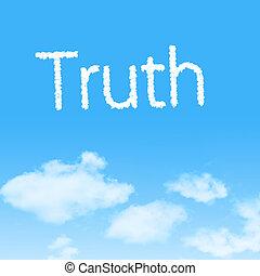háttér, ikon, igazság, felhő, ég blue, tervezés