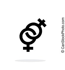 háttér., ikon, leszbikus, fehér